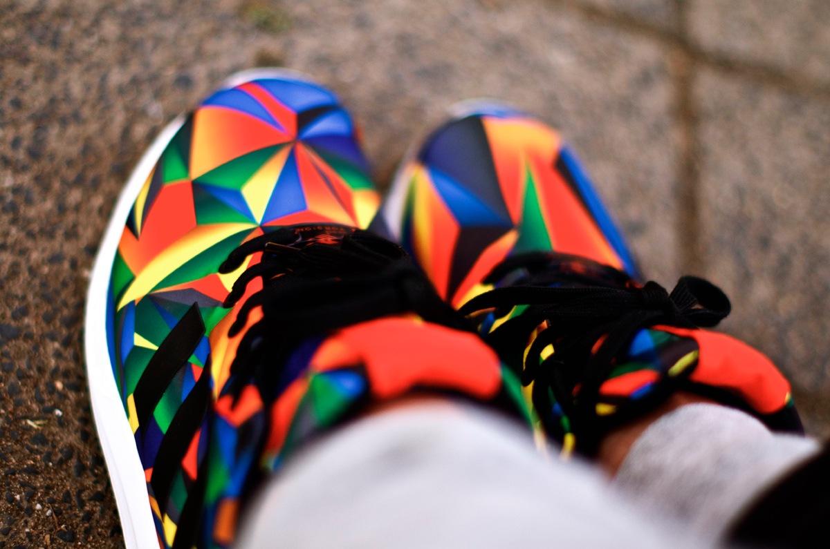 adidas ZXFlux FL Exclusive Macro Prism on feet | Dead