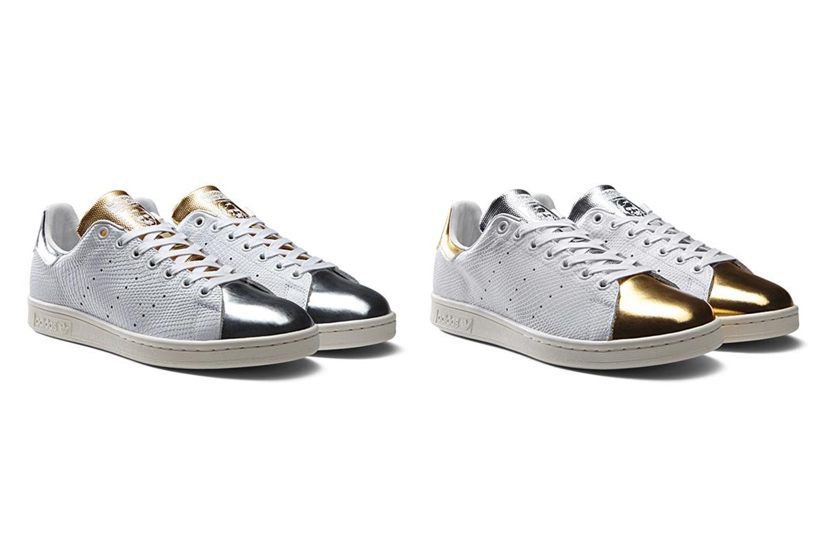 adidas originals stan smith metallic pack online now dead stock sneakerblog. Black Bedroom Furniture Sets. Home Design Ideas