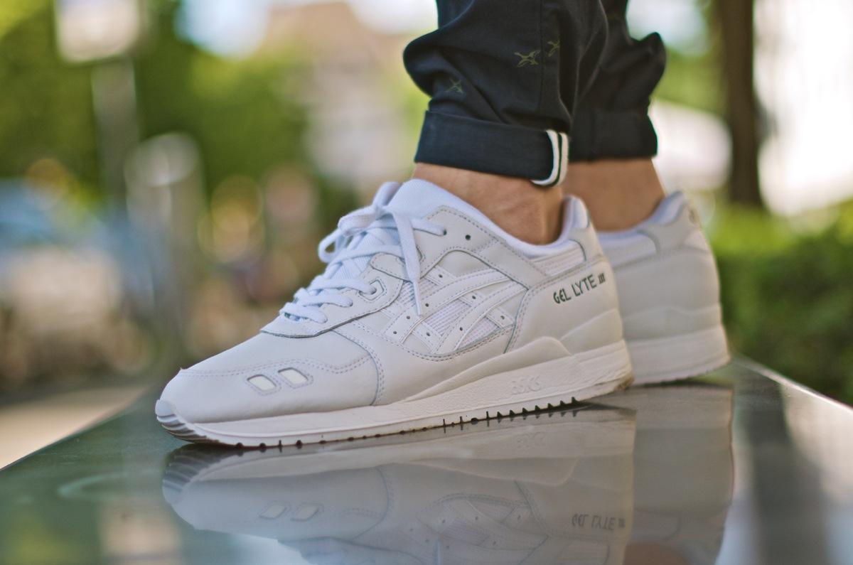 Asics Gel Lyte Iii White On Feet