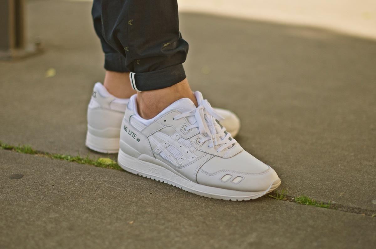 Asics Tiger Gel Lyte Iii Pure White On Feet Dead Stock