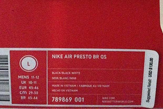 Nike Presto Größen