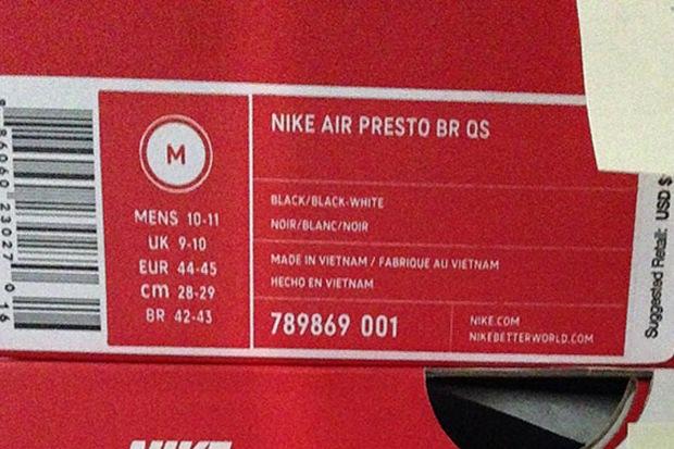 Nike Air Presto Größentabelle