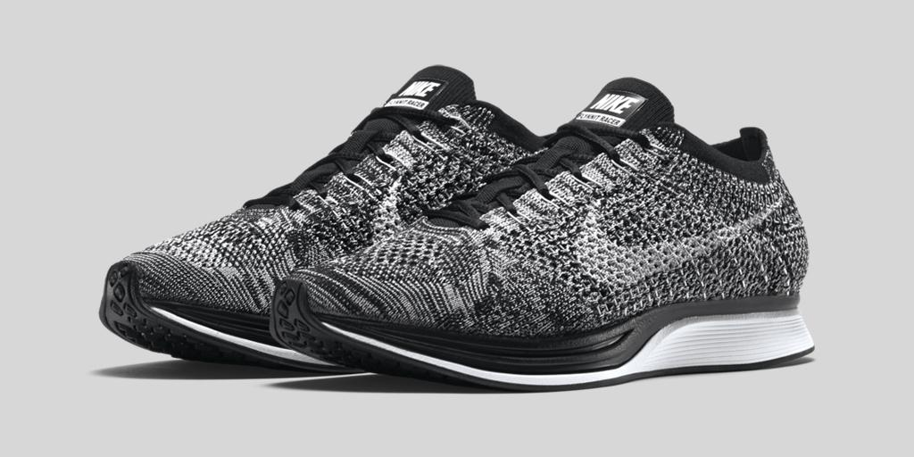 nike flyknit racer oreo dead stock sneakerblog. Black Bedroom Furniture Sets. Home Design Ideas
