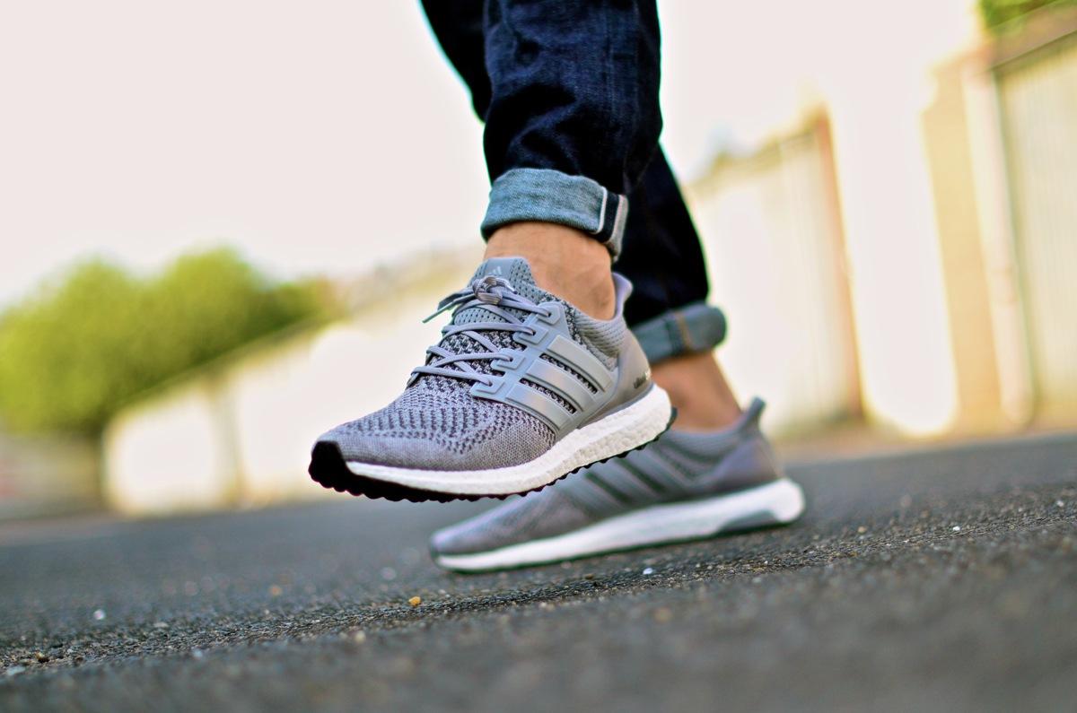 adidas Ultra Boost Grey - on feet