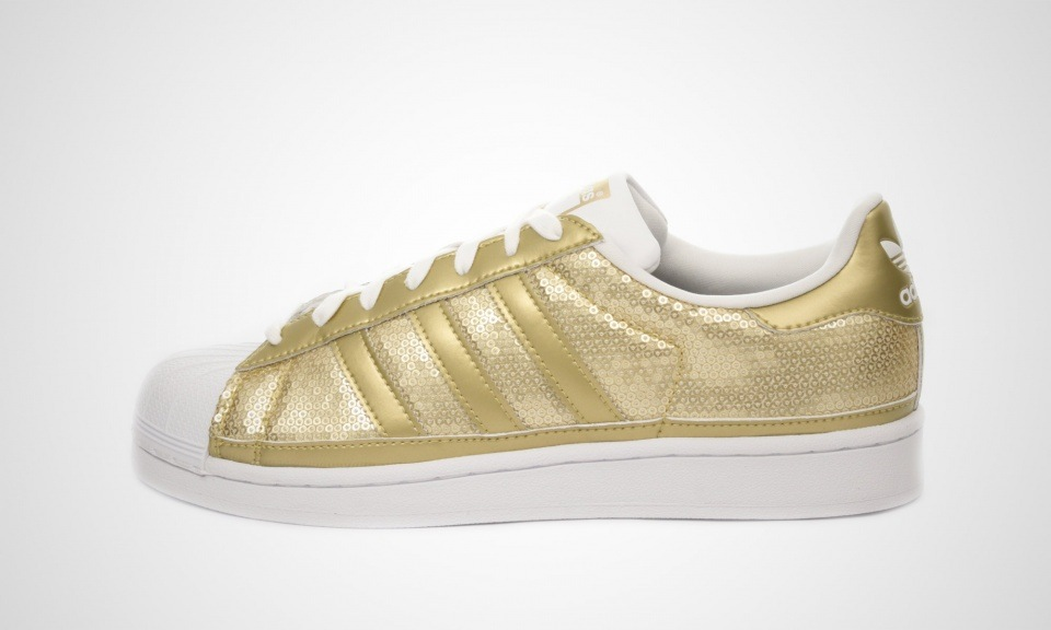 Adidas Superstar In Gold