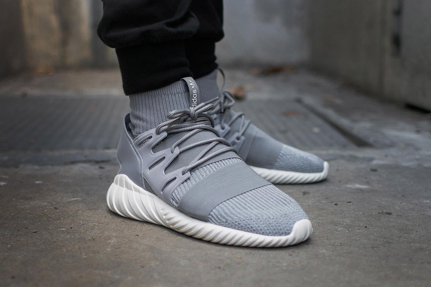 adidas tubular doom on feet