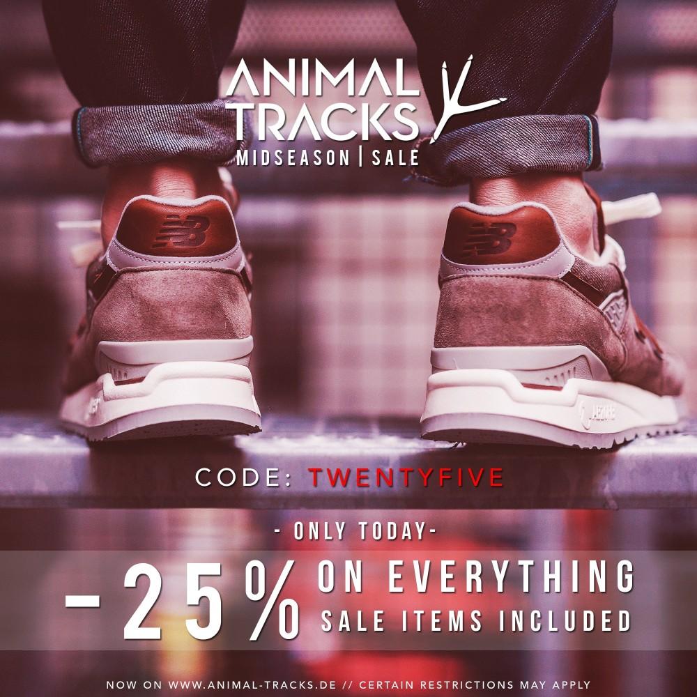 animal tracks midseason sale 25 auf alles dead stock sneakerblog. Black Bedroom Furniture Sets. Home Design Ideas