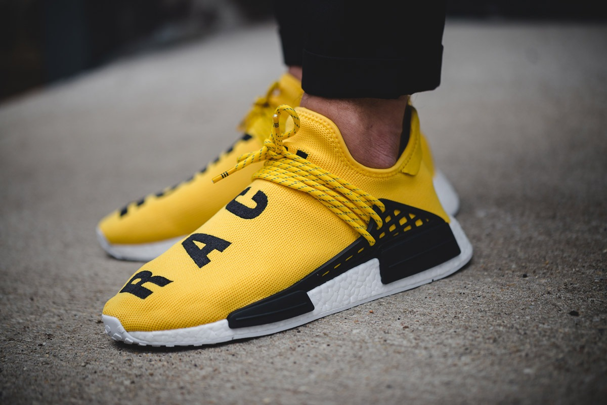 Adidas HU NMD PHARRELL WILLIAMS 5 6 7 8 9 10 YELLOW