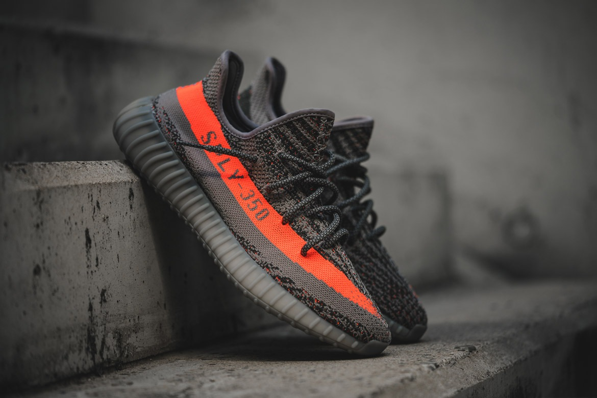 2017 2016 Y Boost 350 v2 Beluga BB 1826 With Orange Stripe Kanye
