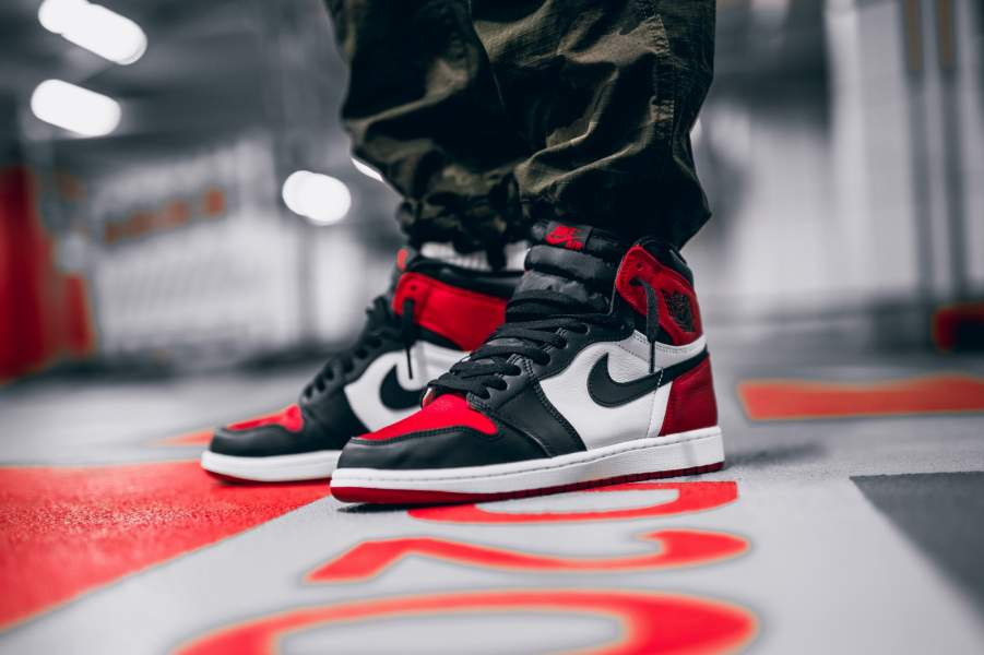 the latest 9f56d 24031 Nike Air Jordan 1 Bred Toe