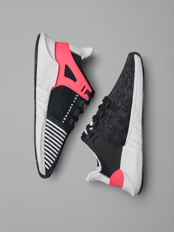 Adidas EQT Support ADV 9317 Black Turbo Red Cool Sneakers