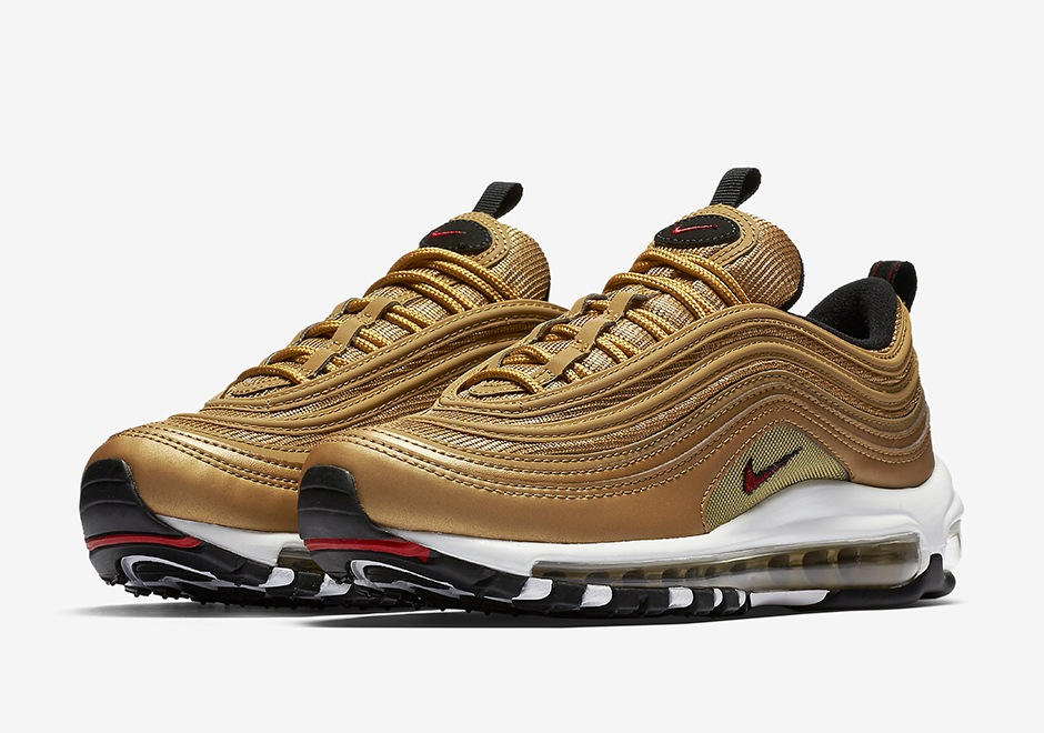 exclusive range size 7 autumn shoes Nike Air Max 97 Metallic Gold