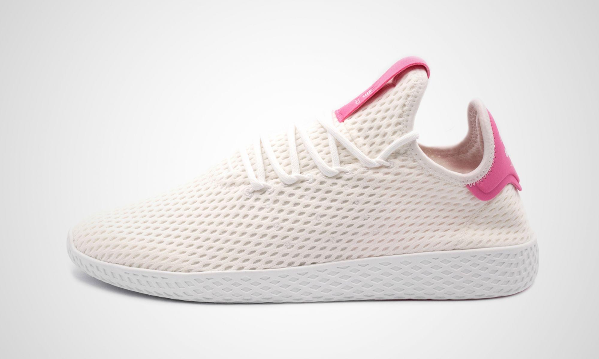adidas Tennis HU weiß pink by Pharrell Williams | Alle