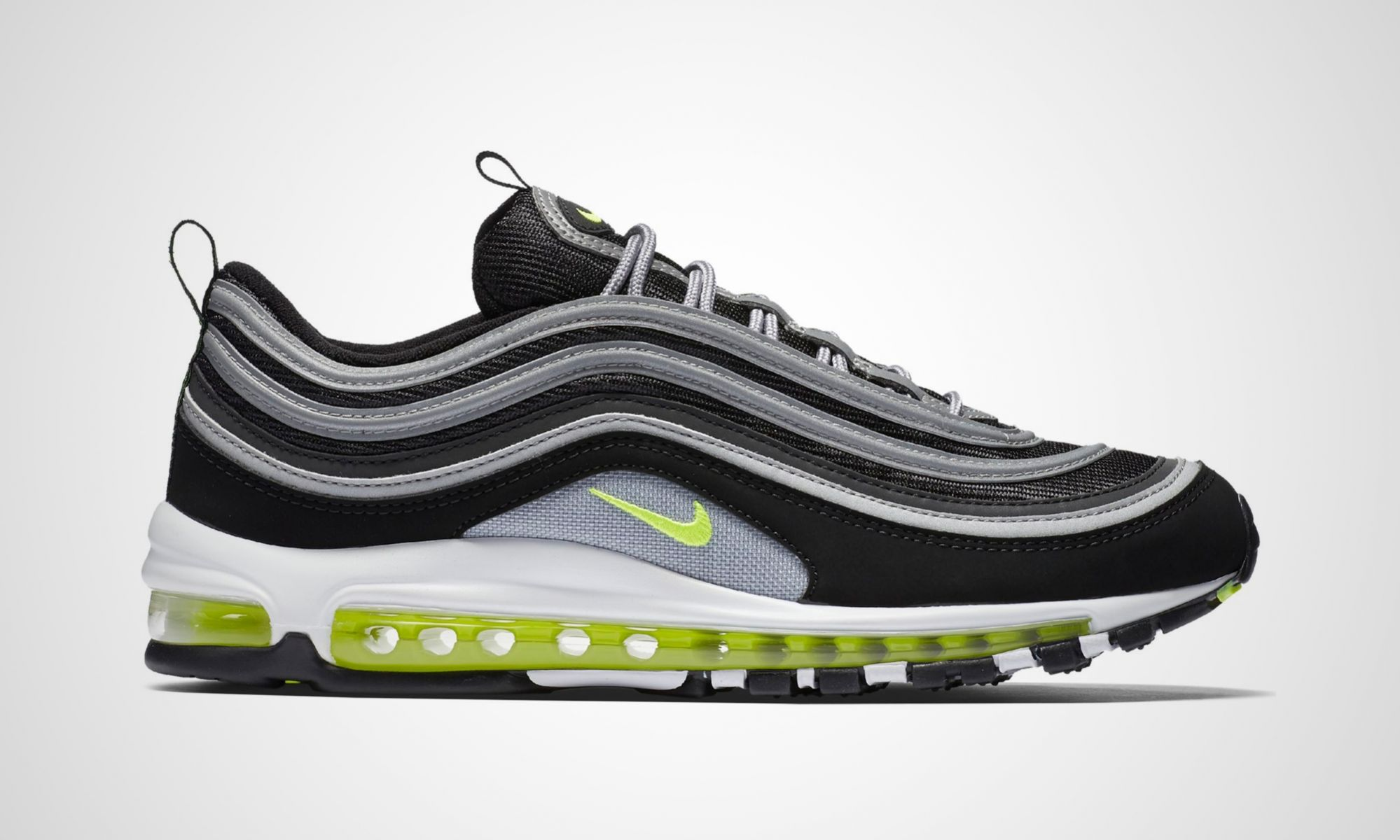 nike air max 97 black volt dead stock sneakerblog. Black Bedroom Furniture Sets. Home Design Ideas