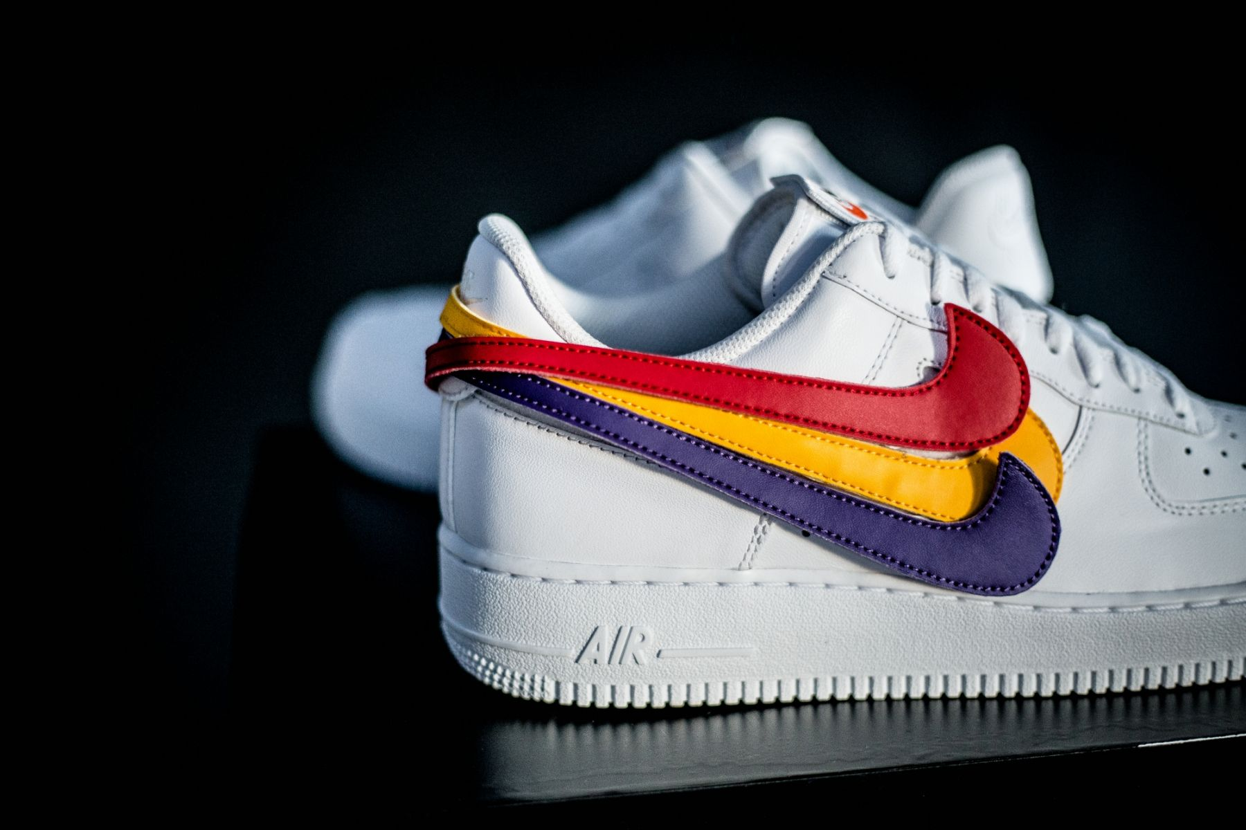Nike Air Force 1 White Swoosh Pack