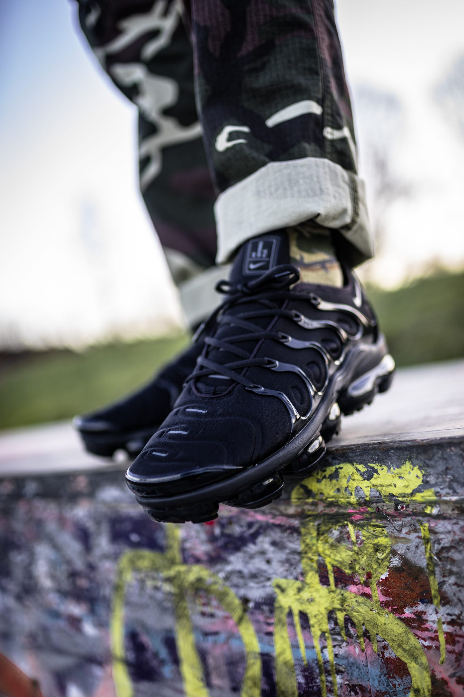 pretty nice f31fb 91de7 Nike Air VaporMax Plus Triple Black - on feet | Dead Stock