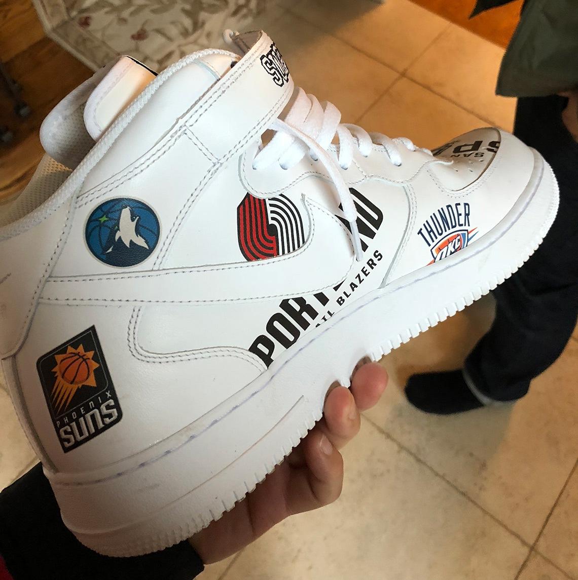 Nike Air Force 1 Mid Supreme NBA White