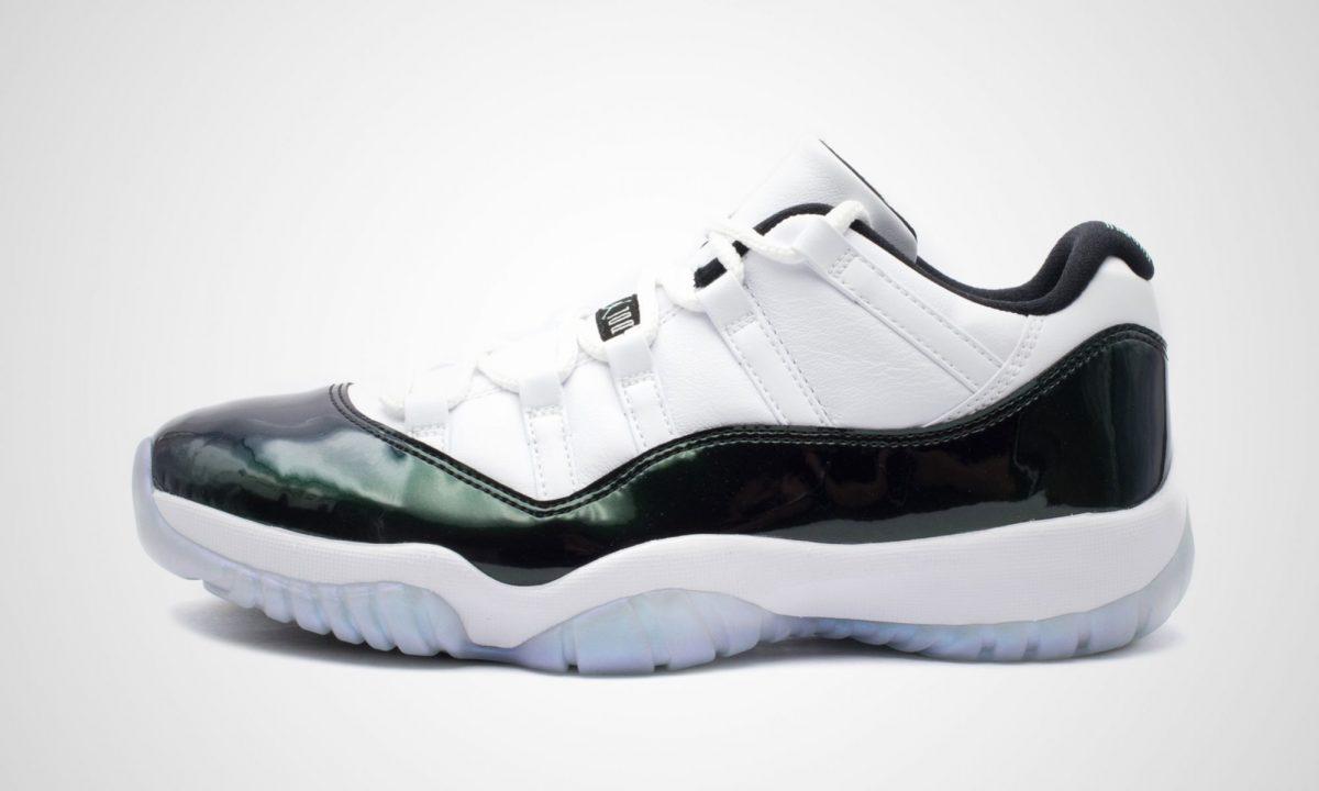 sale retailer 542d7 b7cba ... werden im Laufe der nächsten Tage noch einige weitere Stores  hinzukommen, bei denen ihr den Nike Air Jordan 11 Retro Low Emerald auch  noch kaufen könnt.