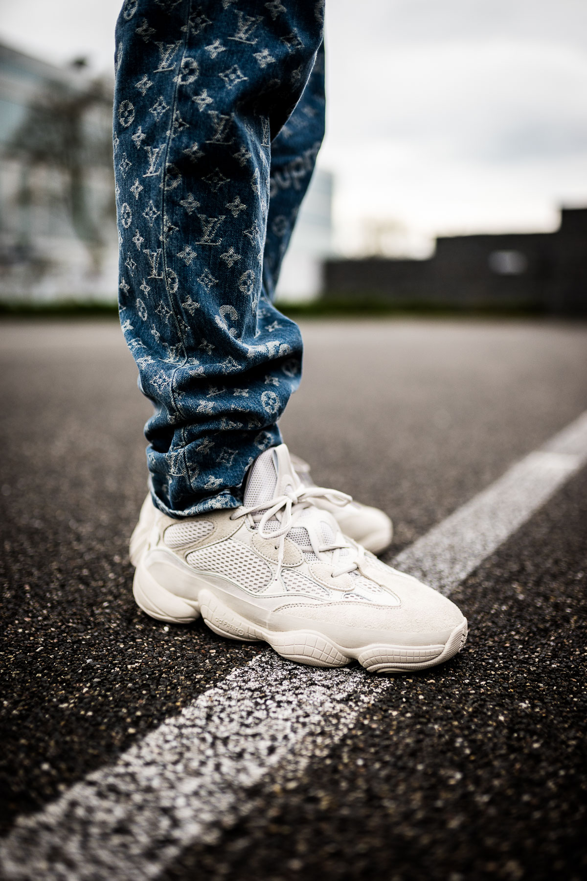 reputable site d9e11 b6dbd adidas Yeezy 500 Blush - on feet | Dead Stock