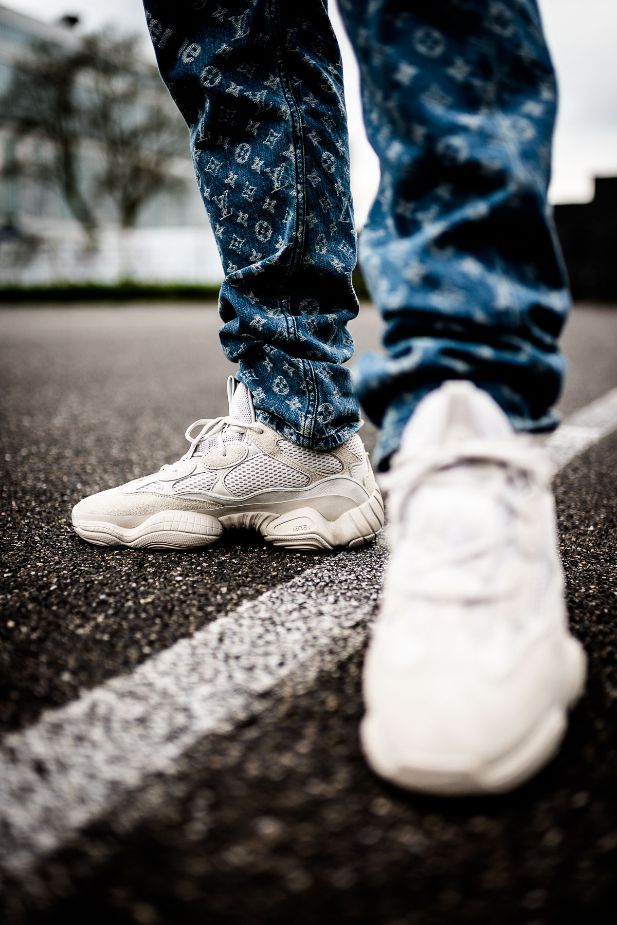 reputable site c5864 0995f adidas Yeezy 500 Blush - on feet | Dead Stock