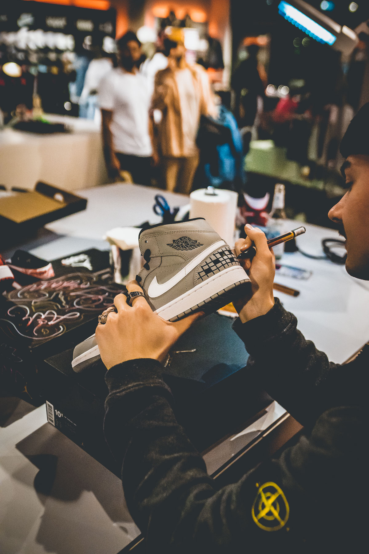 Nike Air Jordan 1 Mid Customization Event by SNIPES Photo