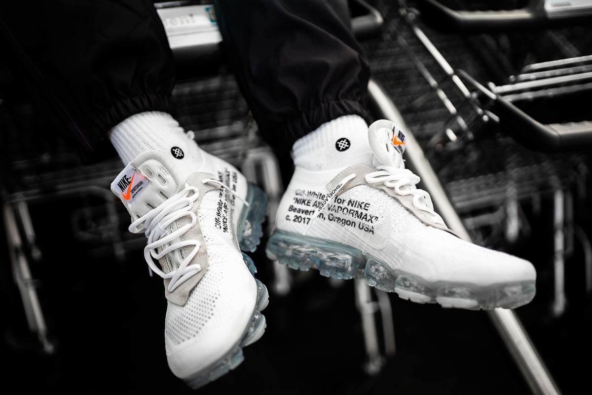 good quality cheap unique design OFF-WHITE x Nike Air VaporMax White - on feet | Dead Stock