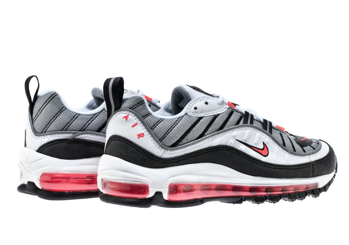 Nike Wmns Air Max 98 White Solar Red Dust Reflect