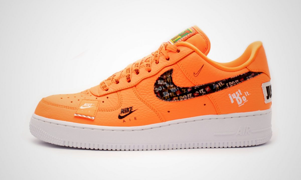 huge selection of 2992c fd993 Nike Air Force 1 07 Premium Just Do It Pack Orange