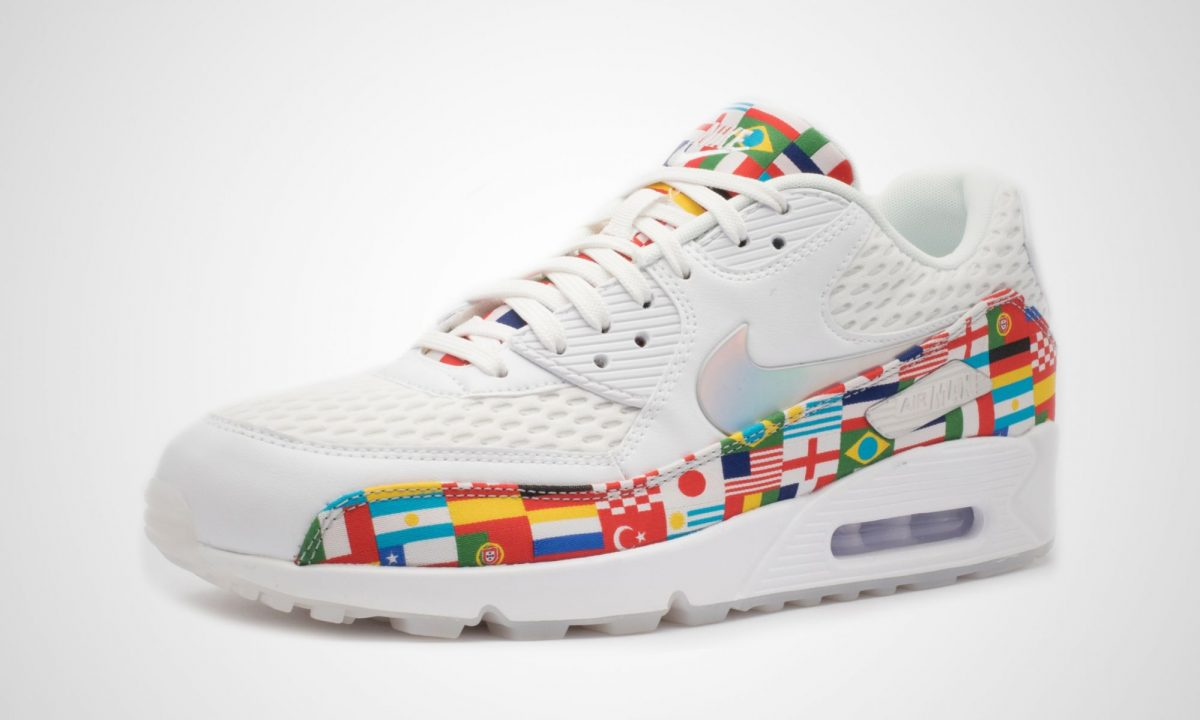 Nike Air Max 90 NIC QS International Flag White Multi Color