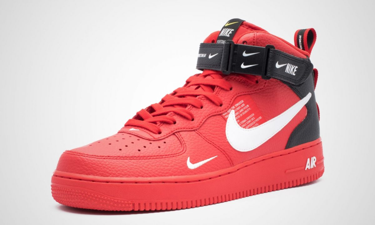 separation shoes 03fe1 c6069 Nike Air Force 1 Mid '07 LV8 University Red