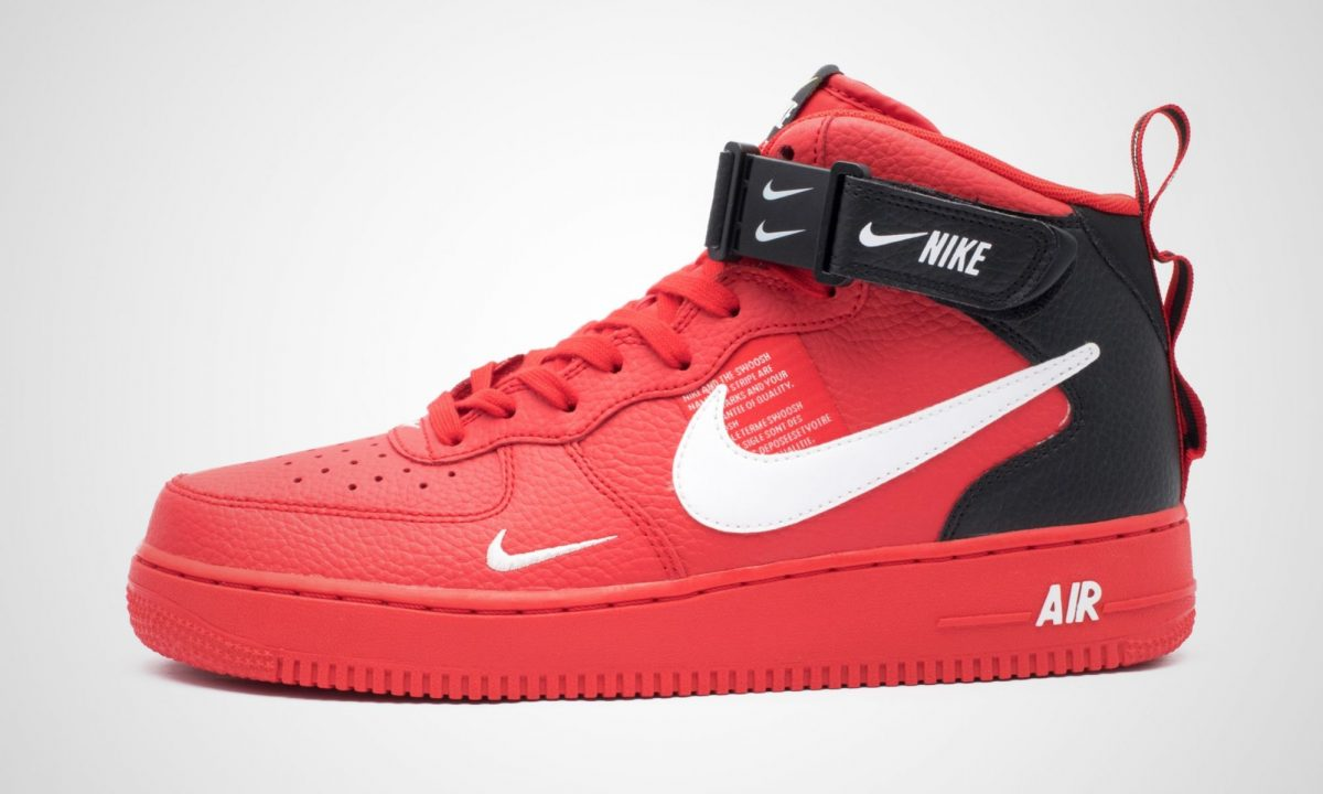 separation shoes ded7d 112f4 Nike Air Force 1 Mid '07 LV8 University Red