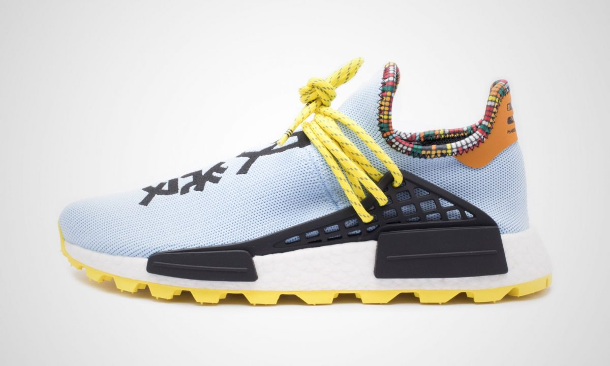 best service 0b1af 16b2c Pharrell Williams x Adidas Solar HU NMD Inspiration Pack Aero Blue