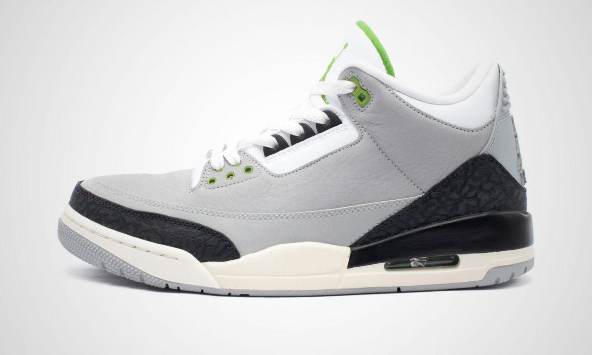 brand new 461f1 8ff9e Nike Air Jordan 3 Tinker Chlorophyll