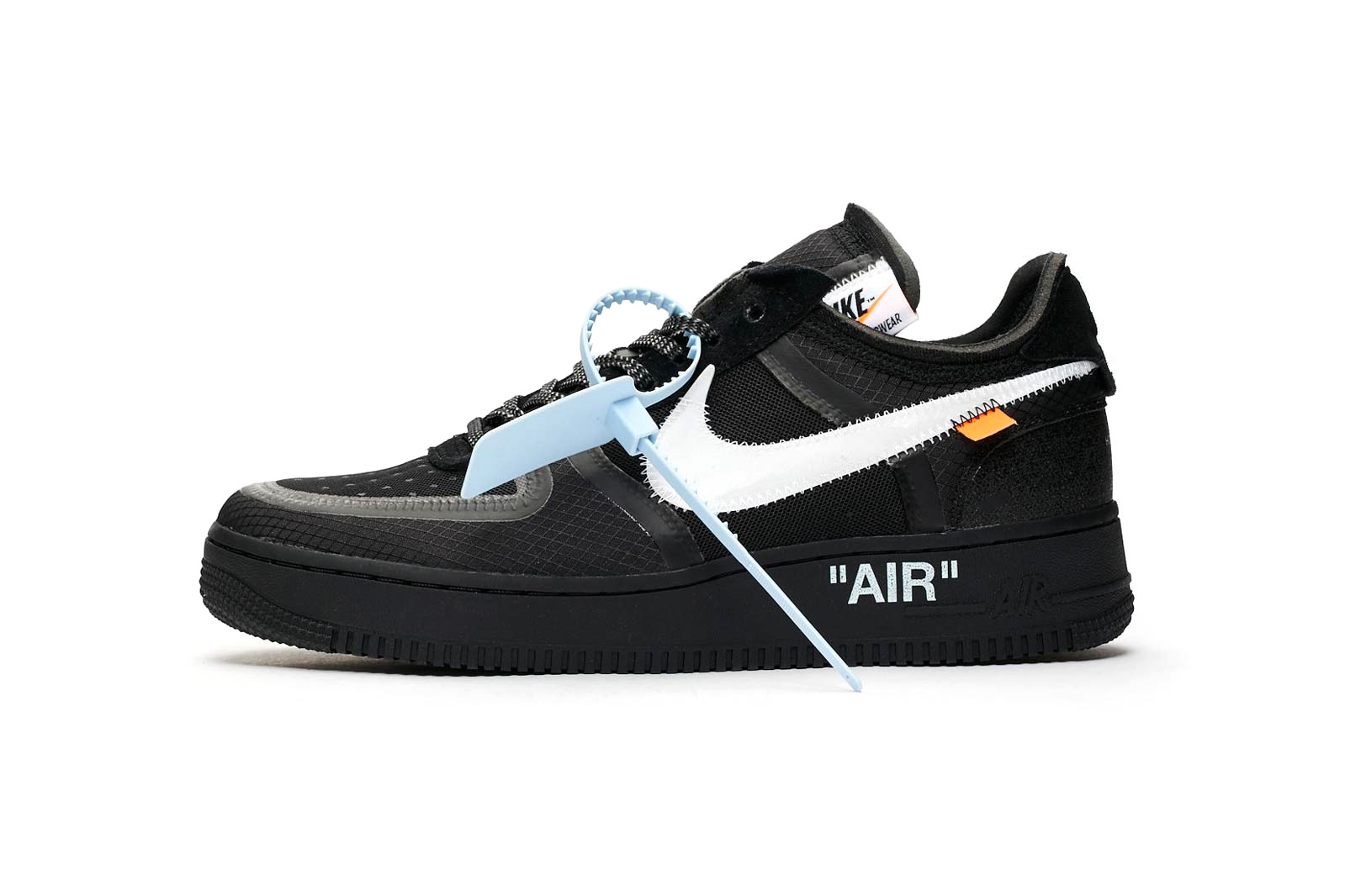 great quality first look shoes for cheap OFF-WHITE Nike Air Force 1 Low Black