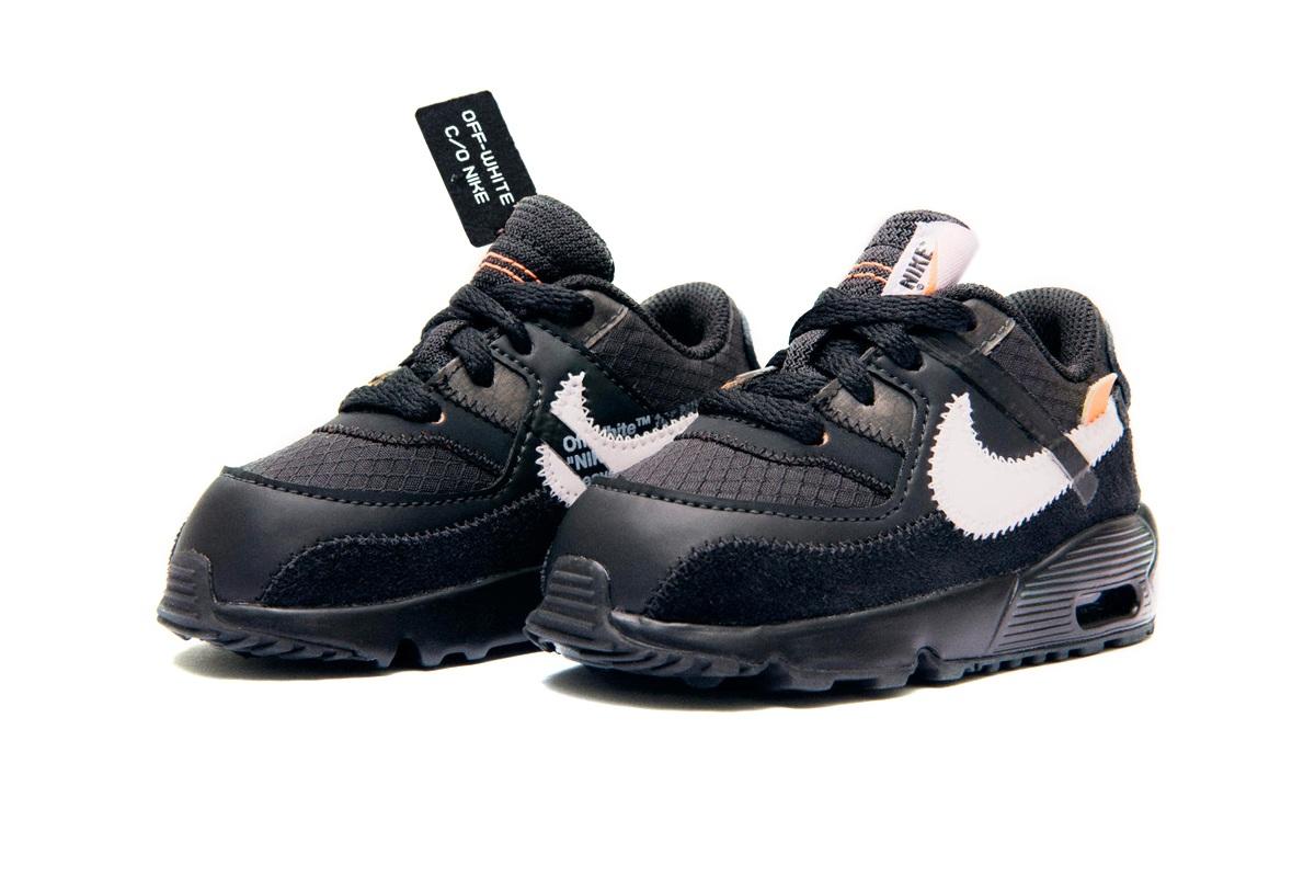 Off-White x Nike Air Max 90 The Ten Black Toddler