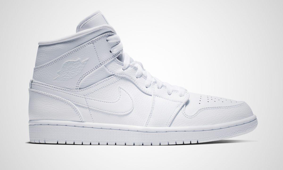 c67089c901ee Der Nike Air Jordan 1 Mid White wird preislich bei 109