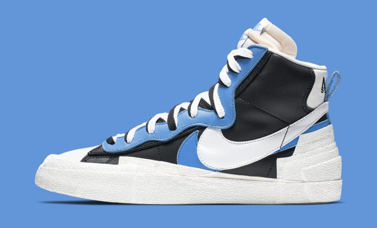 lace up in utterly stylish new appearance Sacai x Nike Blazer University Blue