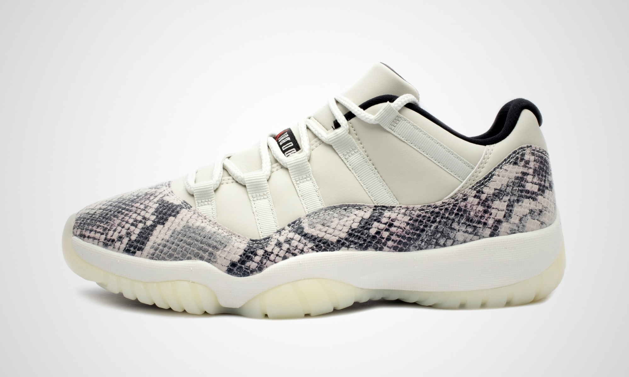 timeless design on feet at no sale tax Nike Air Jordan 11 Low Snakeskin Light Bone
