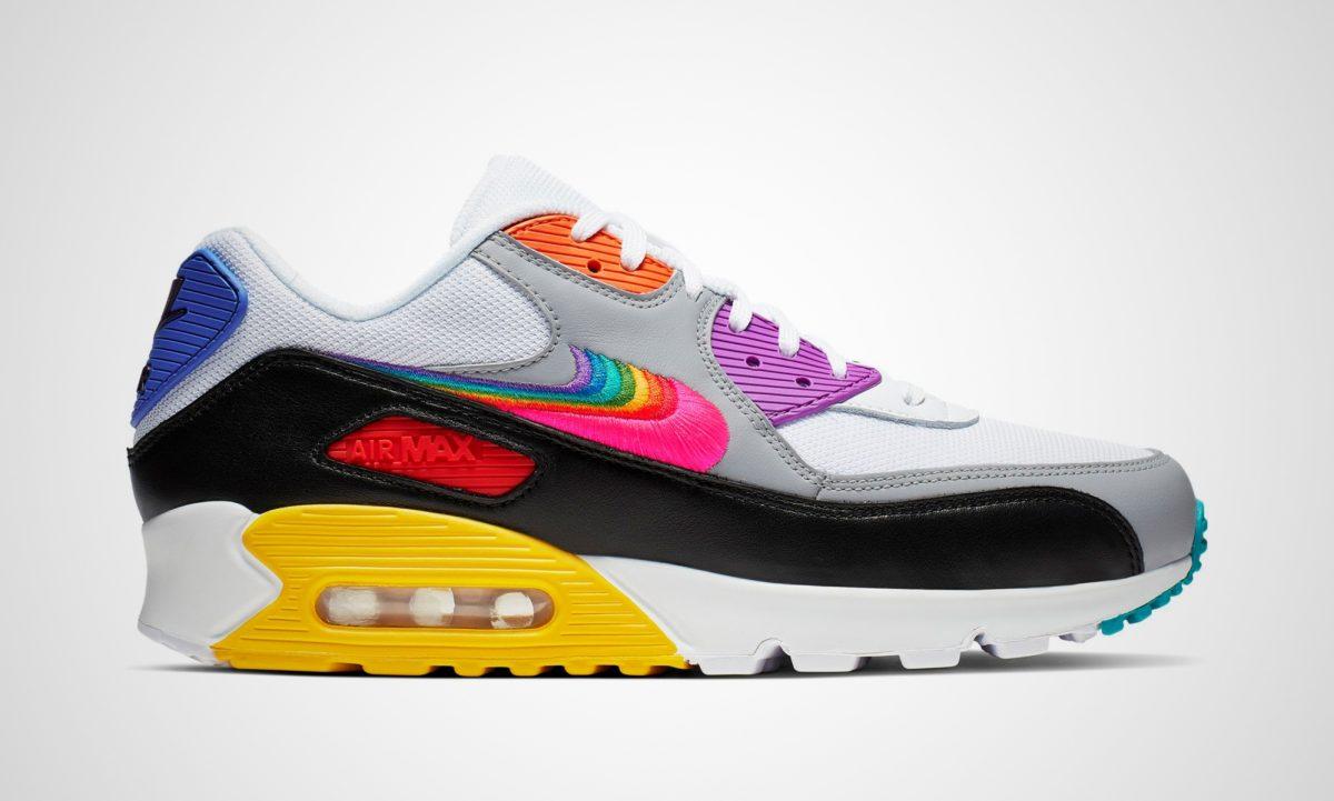Schuh Turnschuhe Nike Air Max Adidas Regenbogen Flagge