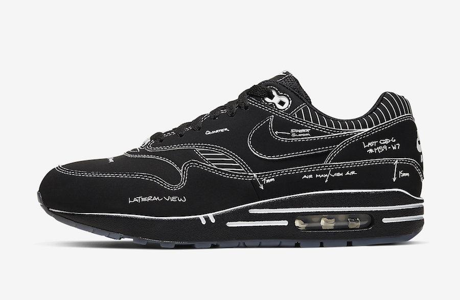 Nike Air Max 1 Sketch Black | Sneaker