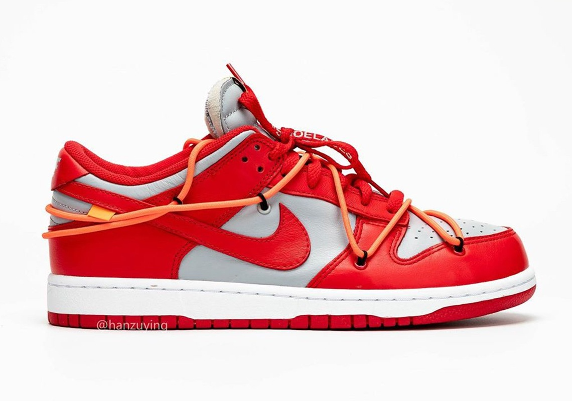 Nike University White Red Dunk Off Low x Ok8n0PXNw