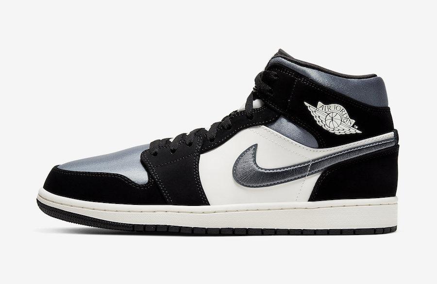 Nike Air Jordan 1 Mid Satin Grey