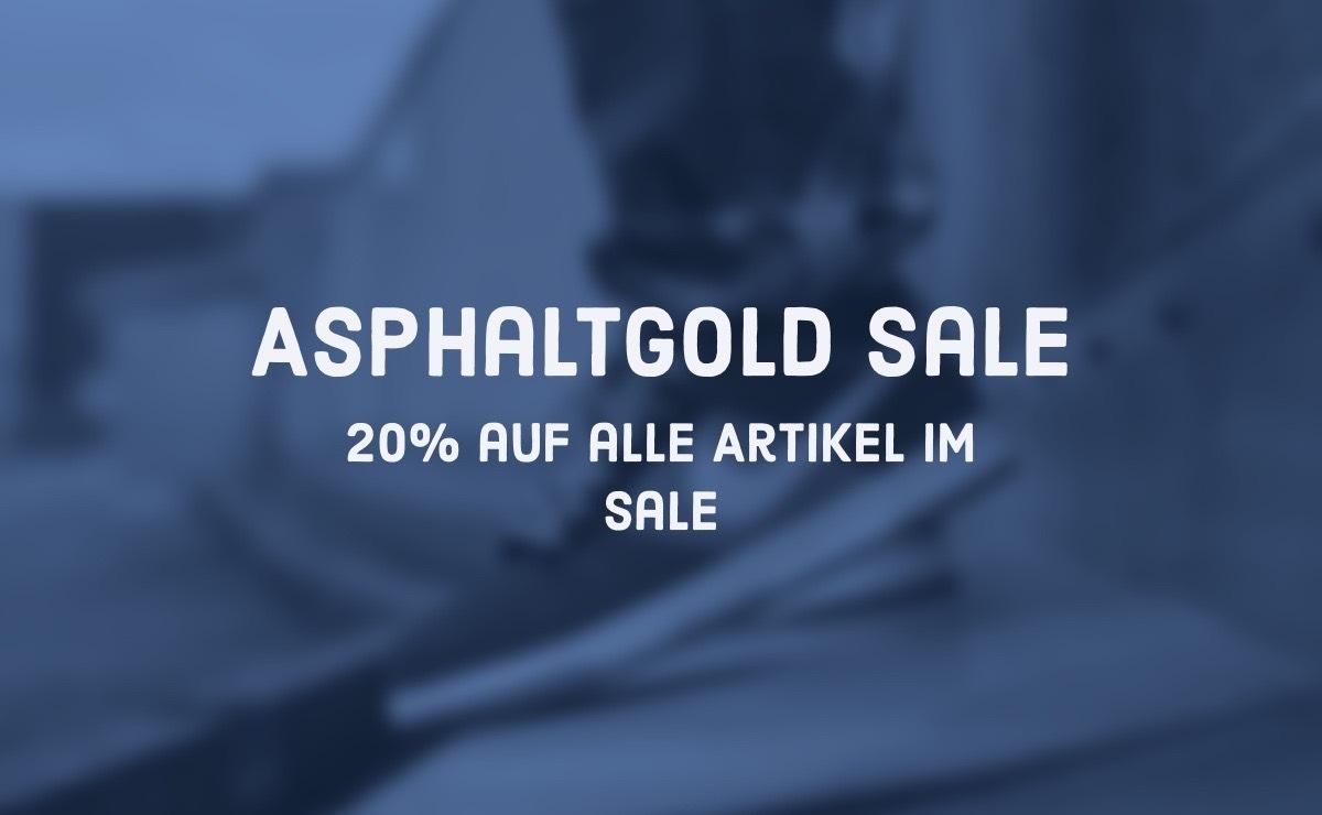 20% auf ALLE ARTIKEL IM SALE bei asphaltgold! | Dead Stock