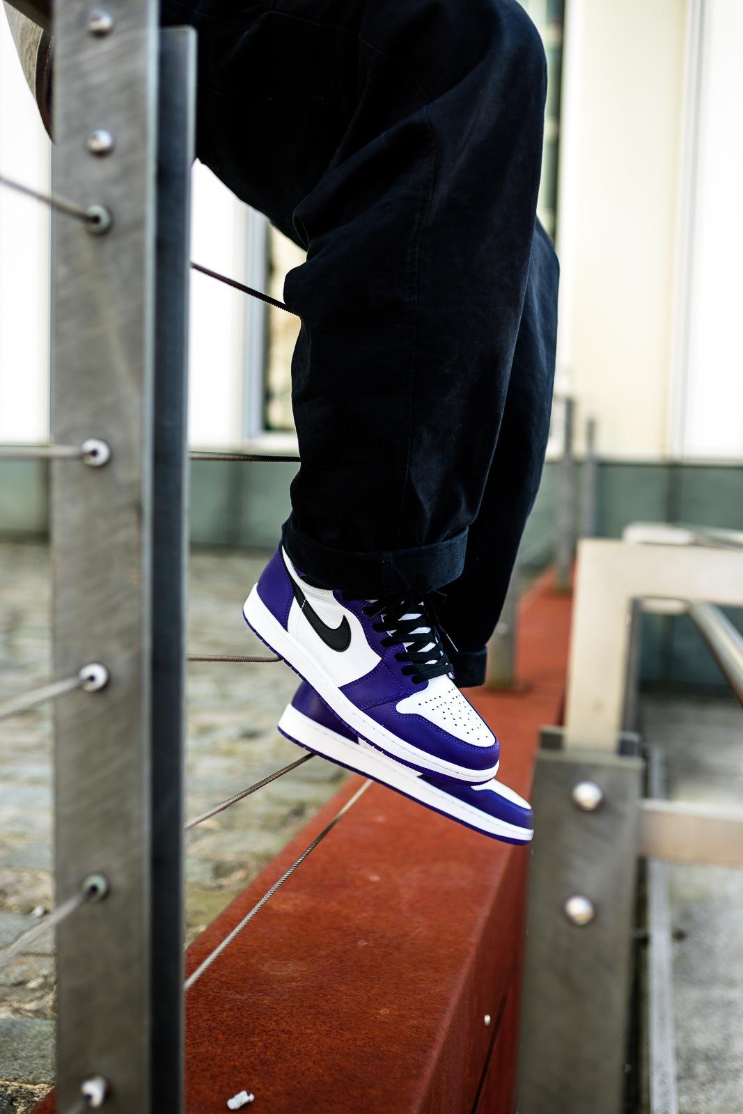Nike Air Jordan 1 Court Purple - on feet | Dead Stock