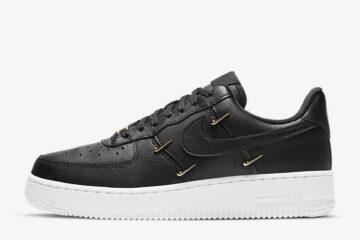 Nike Air Force 1 Black Metallic Swoosh