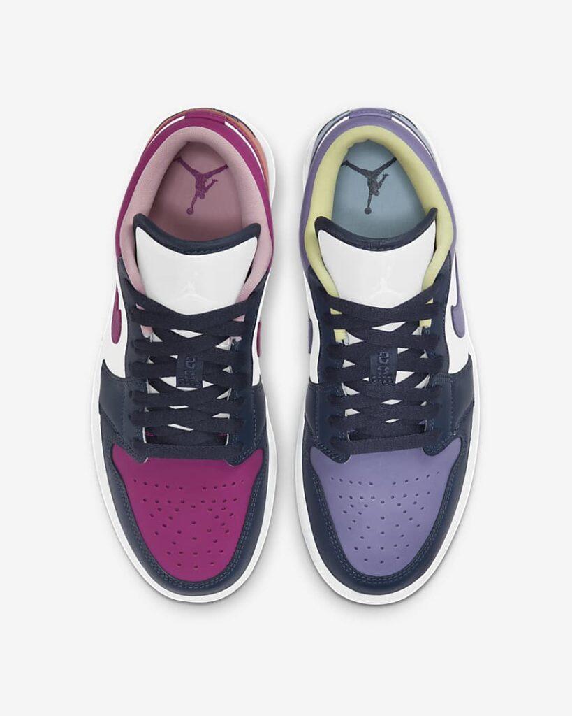 Jordan 1 Low Mismatched Purple Magenta DJ4342-400