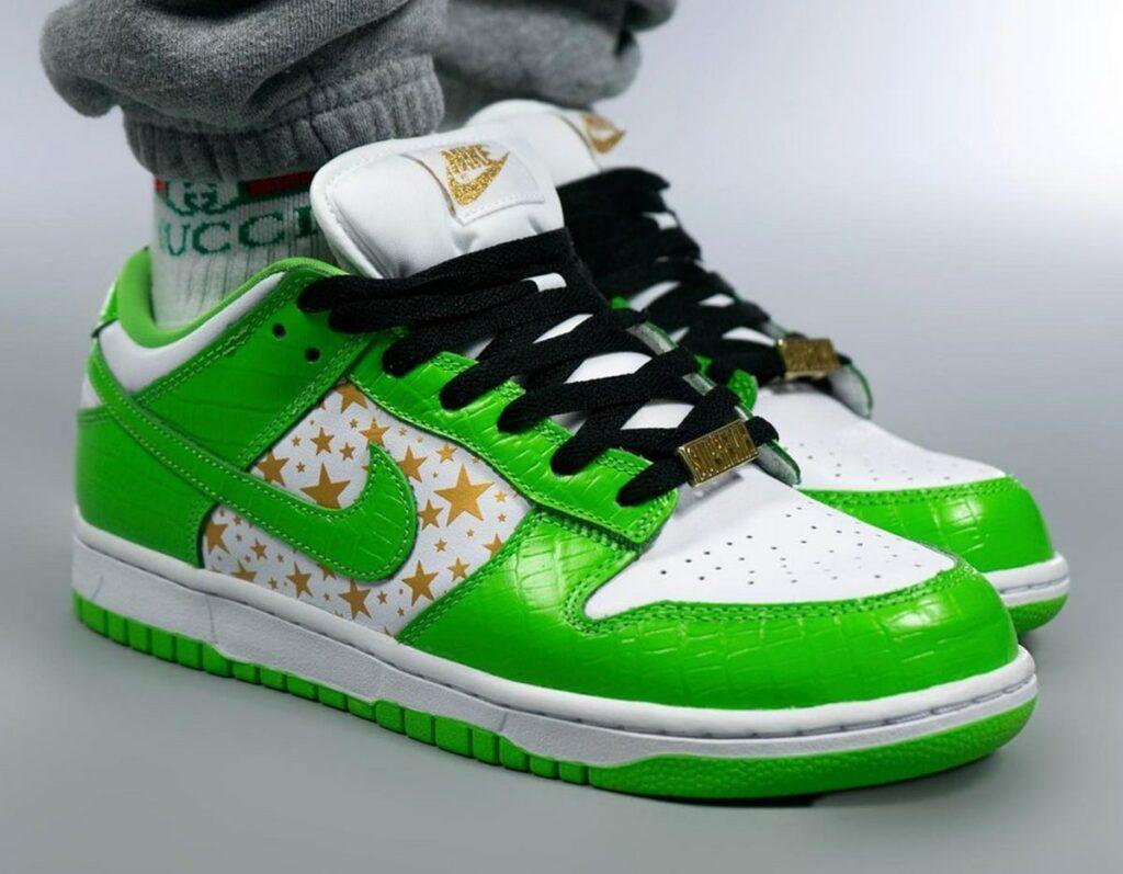 Supreme x Nike SB Dunk Low Mean Green-DH3228-101