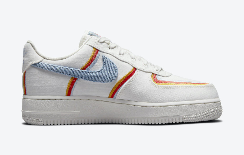 Nike Air Force 1 Sail Denim Swoosh DJ4655-133