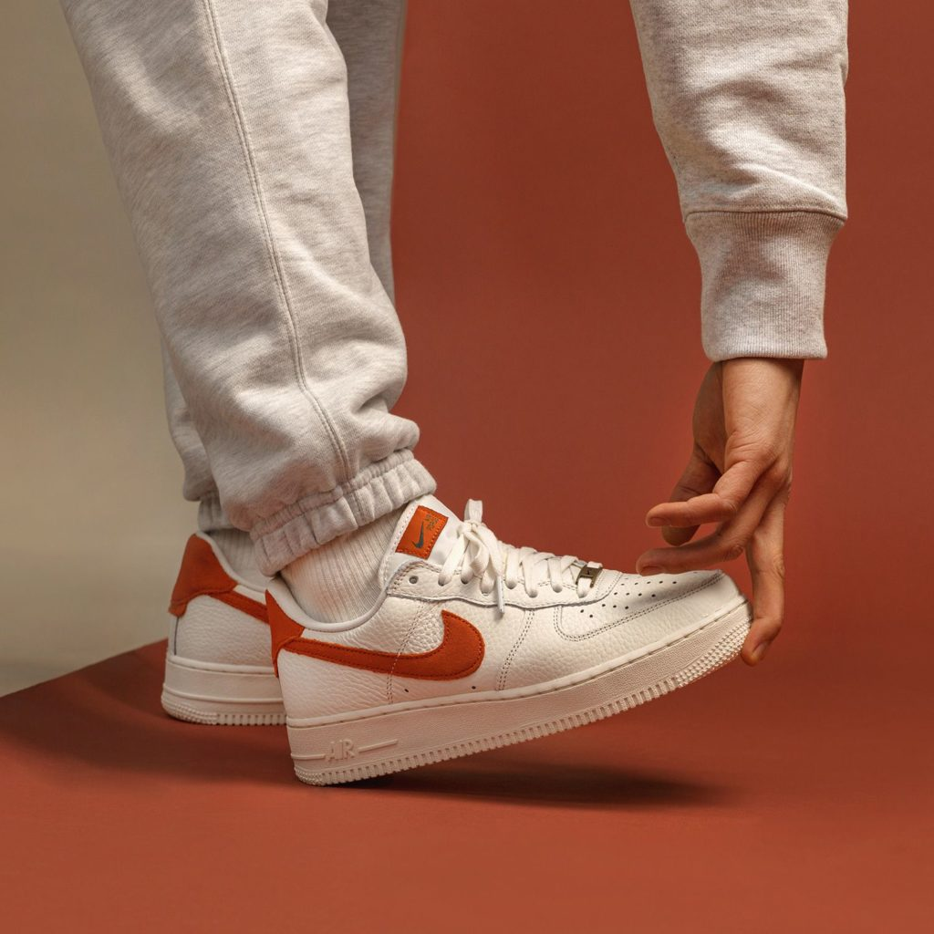 Air Force 1 Craft White Orange