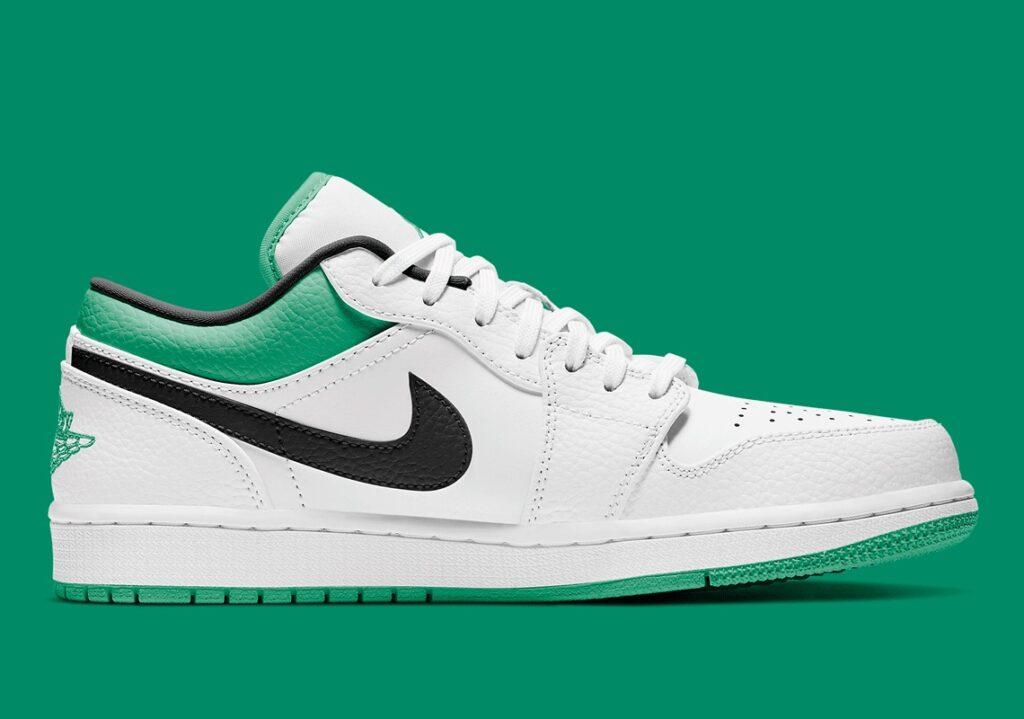 Jordan 1 Low White/Lucky Green